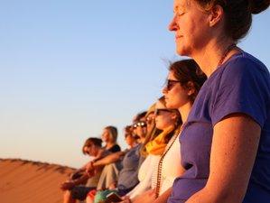 9 jours en retraite de hatha yoga, méditation et chants vibratoires dans le désert marocain