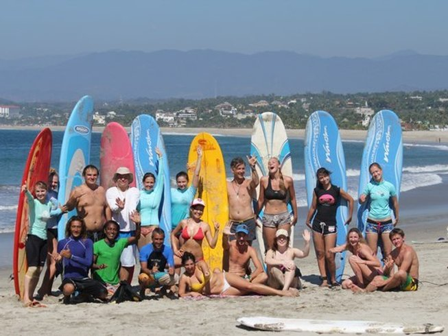 14 Days Beginner Surf Camp and Yoga Retreat in Oaxaca, Mexico