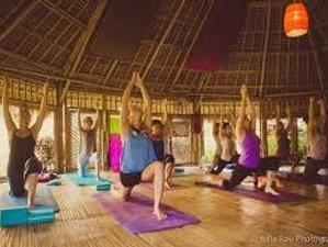 4 Day Yoga and Surf Holiday Staying in Private Garden Bamboo Bungalows, Nusa Lembongan, Bali