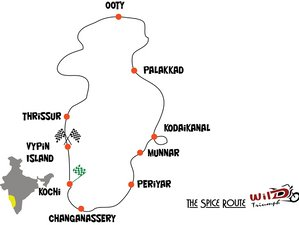 12 Day The Spice Route Guided Motorcycle Adventure in South India