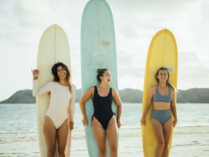4 Days Boutique Surf Camp and Yoga Oasis for All Levels on Tropical Island of Lombok, Indonesia