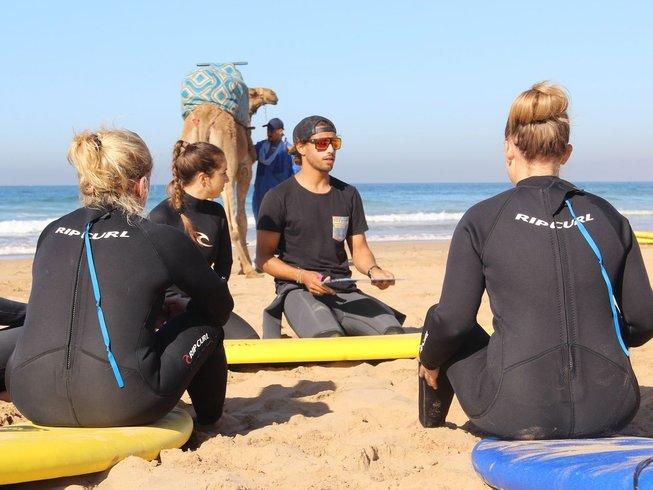 4 días de surf y retiro de yoga en Agadir, Marruecos