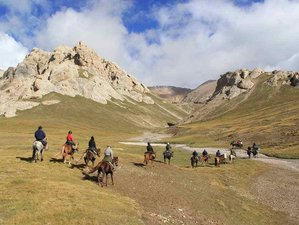 15 Day Taste of Wilderness and Freedom Tour Horse Riding Holiday from Osh to Bishkek