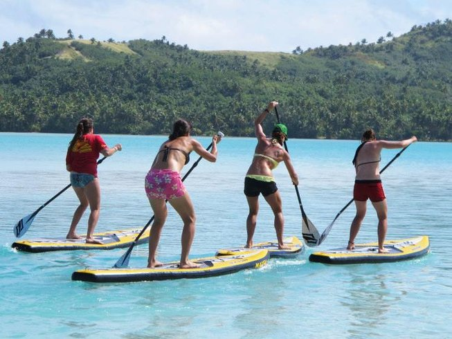 7 Days KiteSUP Chicks Yoga Retreat Cook Islands