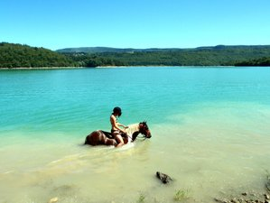 2 Day Unforgettable Weekend Swimming on Horseback Holiday in Montadroit, Jura