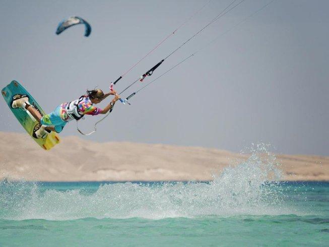 8 Days Kite Boat Trip plus Full IKO Kitesurfing Course in Hurghada, Egypt
