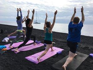 8 jours en stage de yoga en croisière sur un catamaran dans les îles Éoliennes, Italie