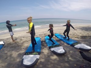4 Day Affordable Surf Camp for Family with 2 Kids in Senggigi Lombok, West Nusa