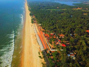 22 Days Cultural, Ayurveda and Yoga Holidays on the Beach in South India