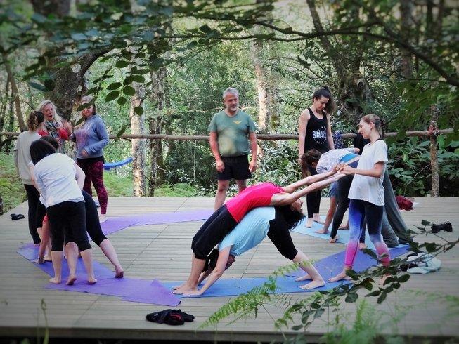 3 días fin de semana en la naturaleza, retiro de yoga en España