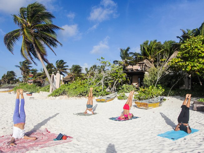 8 Days Kiteboarding & Yoga Retreat in Tulum, Mexico