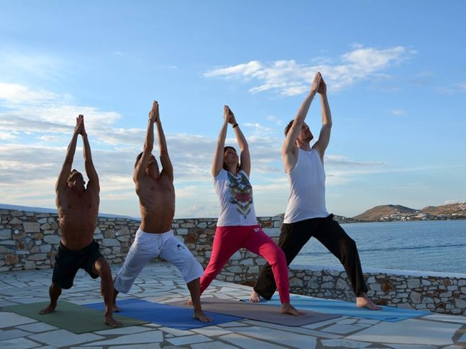 8 Days Relaxing Yoga Retreat at Paros Island, Greece