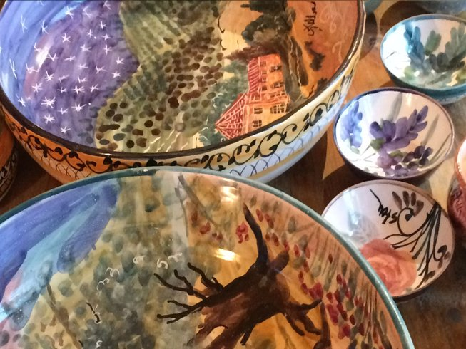 3 Days Ceramic Painting and Cooking Holidays in Italy
