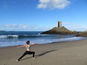 2 jour en stage de yoga en solo sur la plage en Bretagne, France