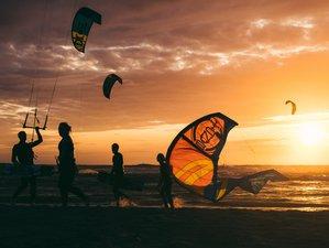 Yoga und Kitesurfen
