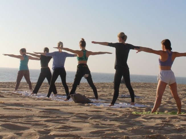8 Days Yoga and Surf Holiday in Praia da Vigia, Torres Vedras, Portugal