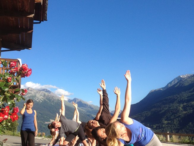 yoga in the alps