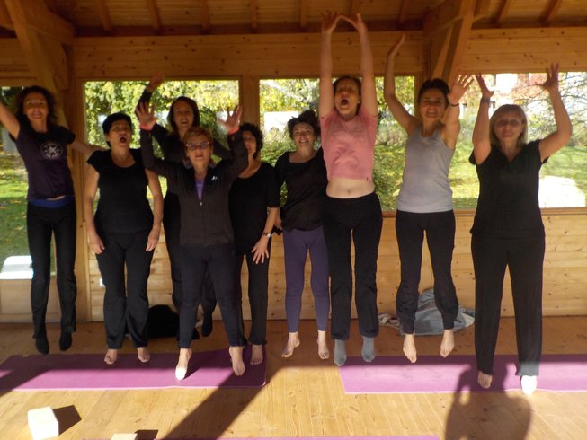 3 jours en stage de yoga au début de l'hiver en France