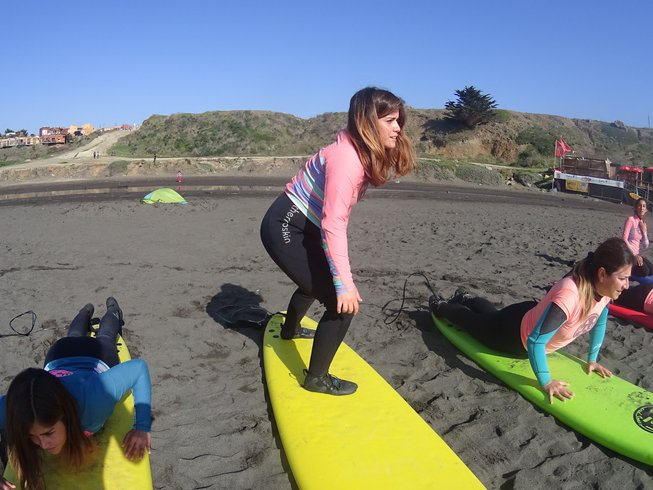 3 días de vacaciones de yoga y surf en Pichilemu, Chile para mujeres