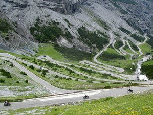 9 Day The Italian Alps and Dolomites Guided Motorcycle Tour in Italy via 30 Mountain Passes