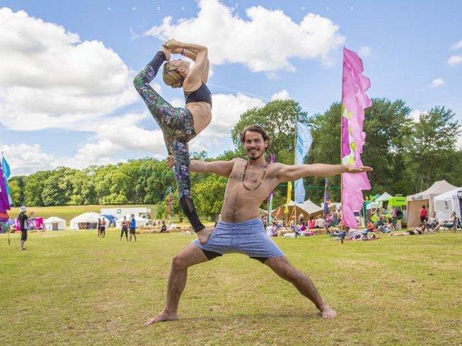 yoga festival poses