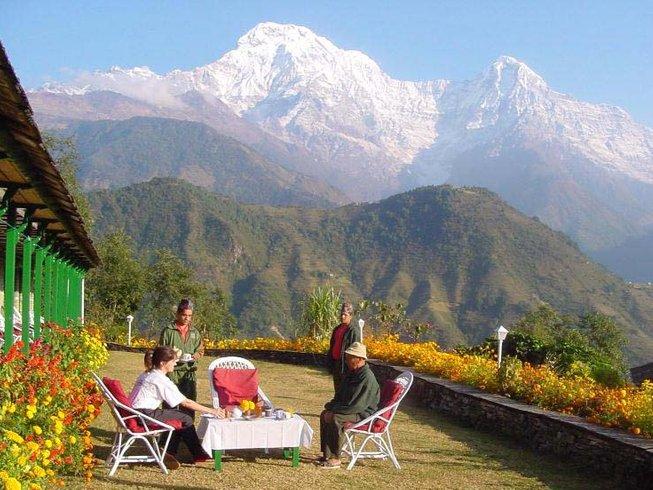 12 días retiro de yoga, bienestar y trekking en Annapurna, Nepal