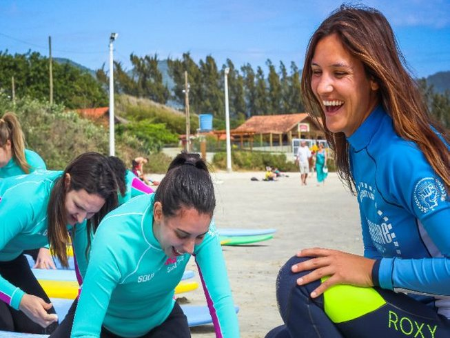 4 Days Women Yoga and Surfing in Brazil