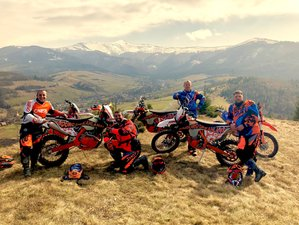 4 Days Guided Motorcycle Tour with Enduro Dreamland in Zakarpattia, Ukraine for All Levels