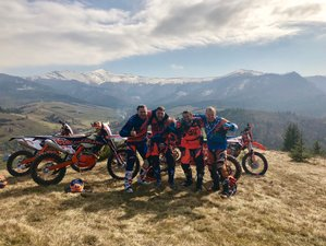 5 Days Guided Enduro Motorcycle Tour in Zakarpattia, Ukraine
