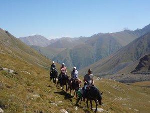 10 Day Breathtaking Wild Valley Horse Trekking Camp in Kyrgyzstan from Jety-Oguz to Turgen-Ak-Cuu
