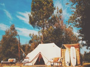 4 Days Long Weekend Boutique Glamping, SUP, and Surf Holiday in Gironde, France
