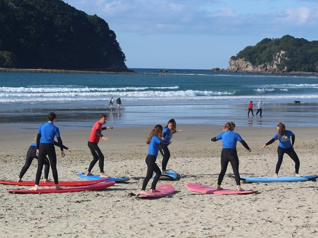 7 Days Yoga and Surf Camp in Whangamata, North Island, New Zealand