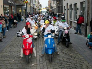 2 Day Relaxing and Fun Hotel Mardaga Guided Vespa Tour in As, Belgium