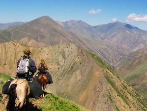 6 Day Horseback Riding Holiday from Besh Tash National Park to Itagar Gorge, Kyrgyzstan
