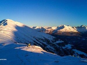 3 Tage Yoga Urlaub und Skifahren auf der Gipfelhütte am Genussberg Venet, Österreich