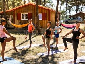 8 días retiro de yoga y surf para mujeres en Francia