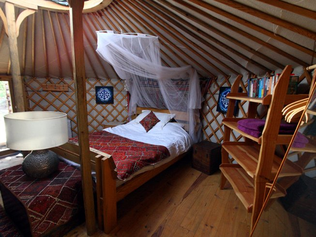 7 Days Yurt Glamping and Yoga Retreat in Oleiros, Portugal