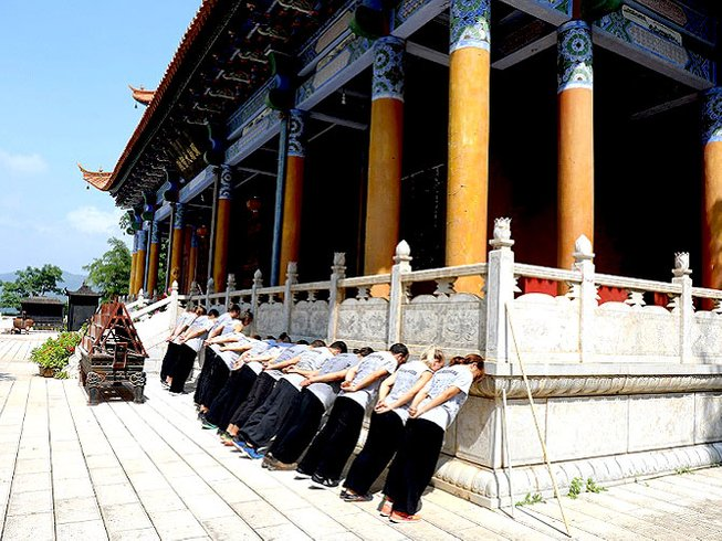4 Years Songshan Shaolin Kung Fu Training in Mile, China