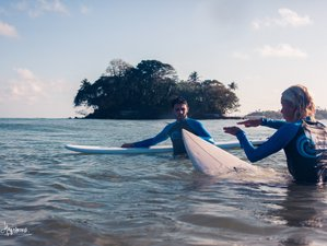 8 Day The Surfer Beach Camp Moderate Surf Lesson or Guiding in Weligama, Southern Province