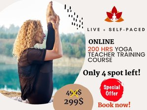 200-Hour Online (Live + Self-Paced) Hatha and Ashtanga Vinyasa Teacher Training Course