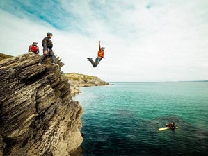 2 Day Surfing, Coasteering, and Wild Camping Adventure Holiday in Cornwall, South West England