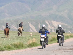11 Day The Great Tian Shan Mountains Guided Motorcycle Tour in Kyrgyzstan
