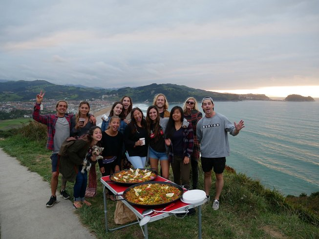 3-Daagse Pop-Up Strand Yoga Retreat en Surfkamp in Zarautz, Spanje