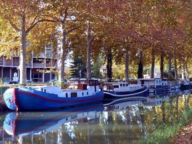 4 jours de retraite de yoga, rando et méditation sur une péniche sur le Canal du Midi, France