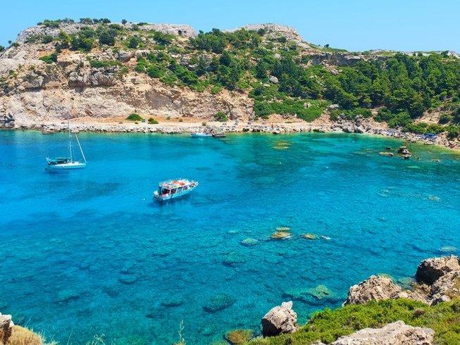8 días de vacaciones de yoga, nutrición y spa para parejas en Rodas, Grecia