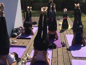 3 jours en stage de SUP yoga, yoga vinyasa, yin et barre au sol à Sanguinet, Bassin d'Arcachon