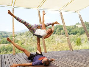8 Day All Inclusive AcroYoga Monkey Mountain Retreat at In Sabina Yoga Retreat Center in Italy