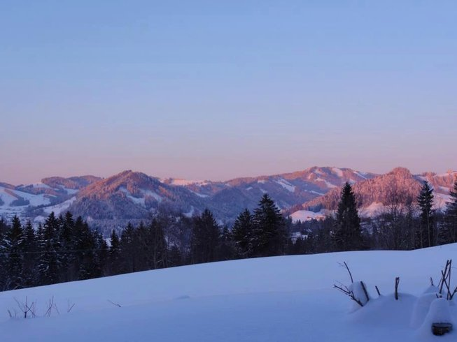 3 días de senderismo en la nieve y retiro de yoga en Algovia, Alemania