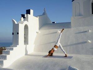 5 Day Luxury Eco-Friendly Yoga Retreat with Boat Tour in Santorini