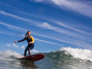 8 Days Girls Only Yoga and Surf Intermediate Surfcamp Portugal